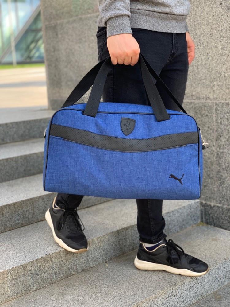 Сумка спортивная (унисекс) Puma (Пума) Синяя-Черная