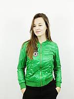 Куртка бомпер женская зелёная(36)р Корея 0022