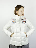 Куртка женская пуховик со стразами белый(XL)р UnitedNude Корея 6652