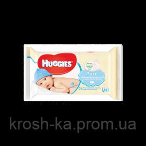 Салфетки влажные детские Pure triplo 56шт Huggies 2438320