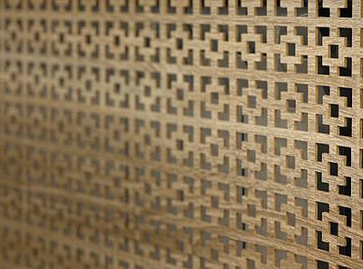 Панель (решетка) декоративная перфорированная, 1390 мм х 680 мм Эфес, Дуб Сонома