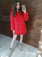 Красная зимняя куртка- зефирка, фото 1