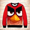 Свитшот 3D Small Angry birds Red