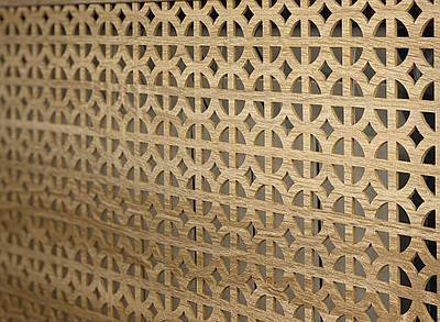 Панель (решетка) декоративная перфорированная, 1390 мм х 680 мм Классик, Дуб Сонома