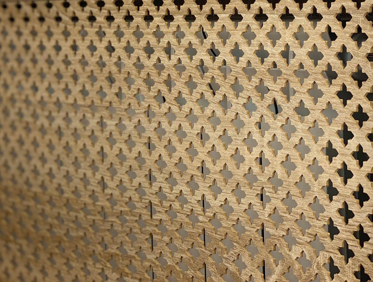 Панель (решетка) декоративная перфорированная, 1390 мм х 680 мм Роял, Дуб Сонома
