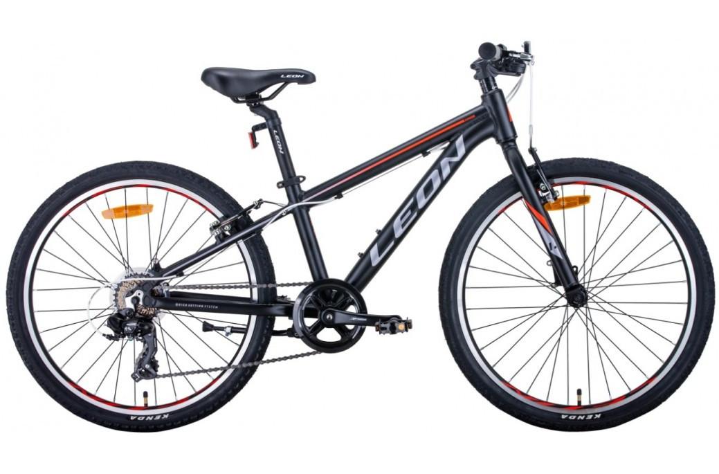 """Велосипед підлітковий універсальний 24"""" Leon Junior Vbr алюмінієва рама 12.5"""""""