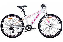 """Велосипед підлітковий універсальний 24"""" Leon Junior Vbr алюмінієва рама 12.5"""", фото 2"""