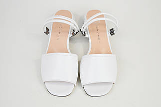 Босоножки женские Lottini 37501 Белые кожа, фото 3