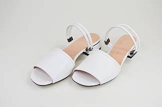 Босоножки женские Lottini 37501 Белые кожа, фото 2