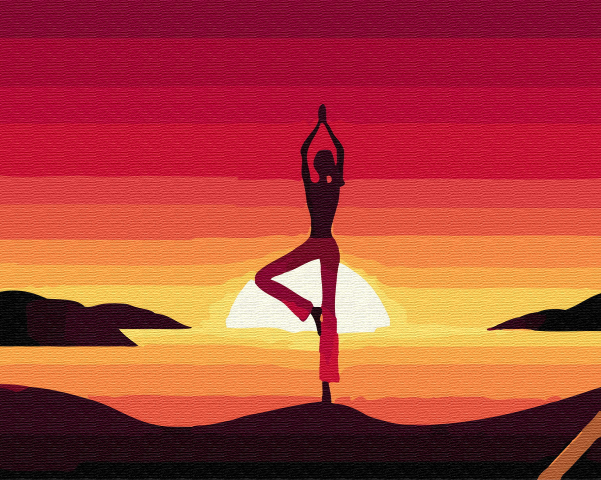 Живопись по номерам Медитация на закате GX34820 Brushme 40 х 50 см (без коробки)