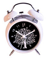 Часы с подсветкой - Дерево, белые - подарок другу