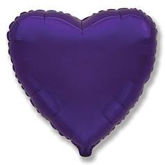 "Фол куля мікро Flexmetal 4""/10см Серце металік фіолетове (ФМ)"