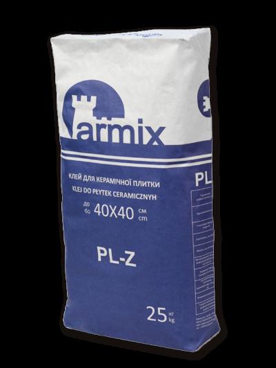 Клей для плитки стандарт (морозостійкий) ARMIX PL-Z, клей для приклеювання керамічної плитки Армікс, 25кг