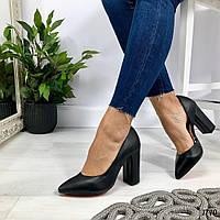 Код 1740 Туфли Paris Материал: НАТУР. КОЖА Цвет: черный Каблук: 10 см Размеры: 35-41 (в размер), фото 1