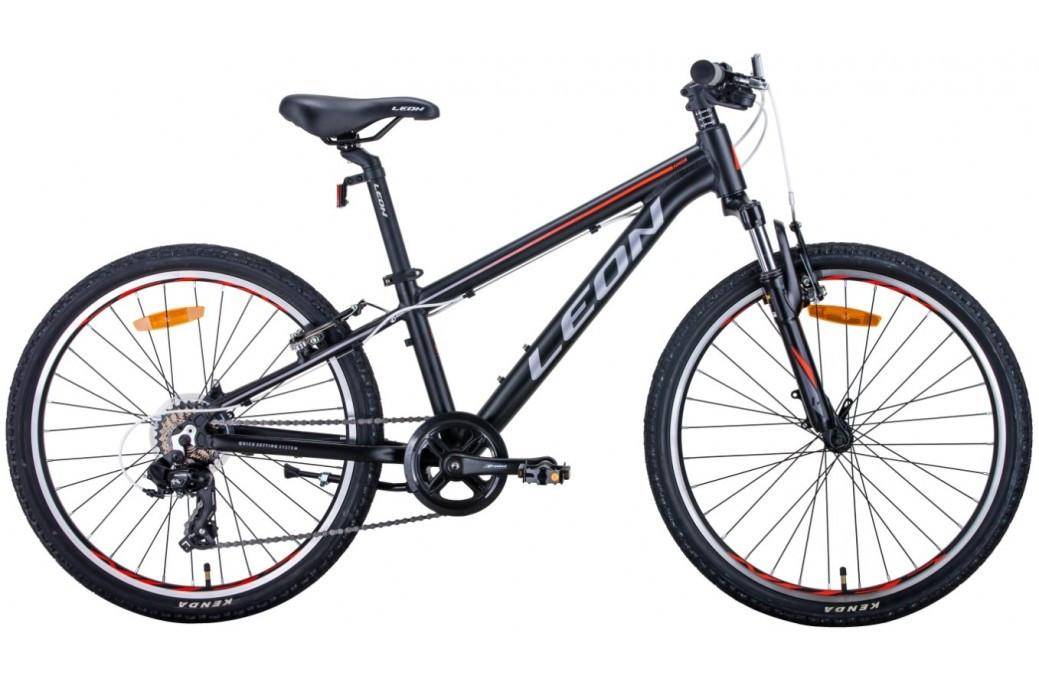 """Велосипед підлітковий універсальний 24"""" Leon Junior AM Vbr 2020 алюмінієва рама 12.5"""""""