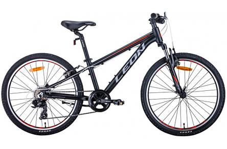 """Велосипед підлітковий універсальний 24"""" Leon Junior AM Vbr 2020 алюмінієва рама 12.5"""", фото 2"""