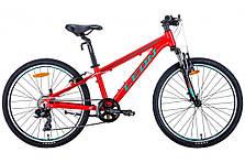 """Велосипед подростковый универсальный 24"""" Leon Junior AM Vbr 2020 алюминиевая рама 12.5"""", фото 3"""