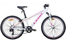 """Велосипед підлітковий універсальний 24"""" Leon Junior AM Vbr 2020 алюмінієва рама 12.5"""", фото 3"""