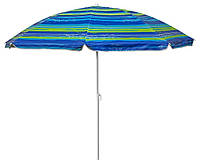 Зонт пляжный с наклоном TE-018, 1,8 м полосатый, фото 1