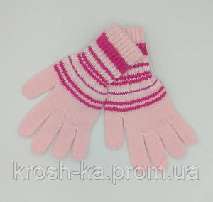 Перчатки для девочки розовые(6-10)л Magrof Польша 9087