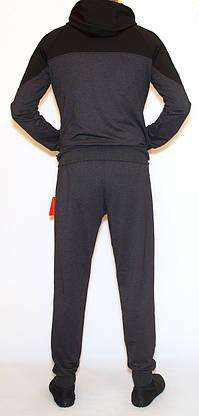 Чоловічий спортивний костюм сірий nike (копія)(М-2XL), фото 3