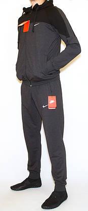Чоловічий спортивний костюм сірий nike (копія)(М-2XL), фото 2