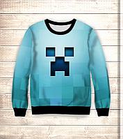 Світшот дитячий 3D Minecraft/Свитшот Майнкрафт BLUE, фото 1