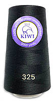 Нитки 50/2 Черные полиэстерные 5000ярдов Kiwi