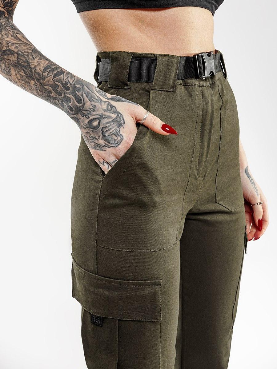 Карго брюки женские Bezet XENA хаки