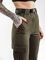 Карго брюки женские Bezet XENA хаки, фото 1