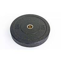 Бамперные диски для кроссфита Bumper Plates из структурной резины RAGGY 15кг