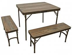 Раскладной стол с лавками для пикника и сада Time Eco TE 022 АS (набор туристической складной мебели)