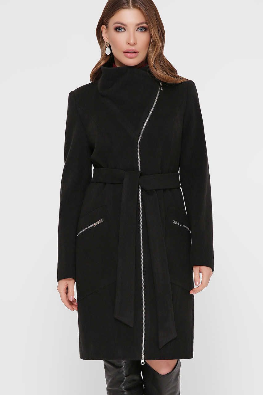 Пальто женское черное ПМ-29