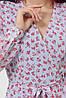Женское платье голубое-цветы красные Алеста д/р, фото 6