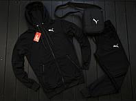 Мужской спортивный Костюм + месенджер  цвет черный.