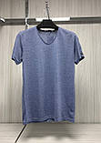 Мужская футболка MSY. 11241-8361(blue). Размеры: M,L,XL,XXL., фото 2