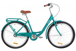 """Велосипед городской женский 26"""" Dorozhnik Ruby планет 2020 алюминиевая рама 17"""" изумрудный"""