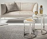 Комплект кофейных столиков CI-1 белый мрамор стекло Vetro Mebel, фото 4