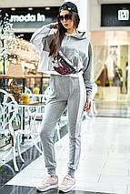 Женский спортивный трикотажный костюм с лампасами (Джексон mm), фото 2