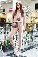 Женский спортивный трикотажный костюм с лампасами (Джексон mm)