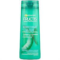 """Шампунь для жирного волосся біля коріння і сухих на кінчиках """"Баланс зволоження"""" Garnier Fructis 400 мл"""