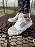😜Кроссовки - Мужские белые кроссовки на шнурках с высоким языком, фото 2