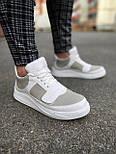 😜Кроссовки - Мужские белые кроссовки на шнурках с высоким языком, фото 4