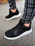 😜Кроссовки - Мужские черные кроссовки на шнурках с высоким языком, фото 9