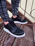 😜Кроссовки - Мужские черные кроссовки на шнурках с высоким языком, фото 3