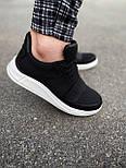 😜Кроссовки - Мужские черные кроссовки на шнурках с высоким языком, фото 5