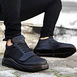 😜Кроссовки - Мужские черные кроссовки на шнурках с высоким языком, фото 2