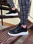 😜Кроссовки - Мужские черные кроссовки на шнурках с высоким языком, фото 4