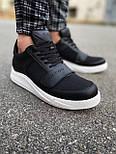 😜Кроссовки - Мужские черные кроссовки на шнурках с высоким языком, фото 7