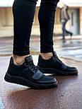 😜Кроссовки - Мужские черные кроссовки на шнурках с высоким языком, фото 8